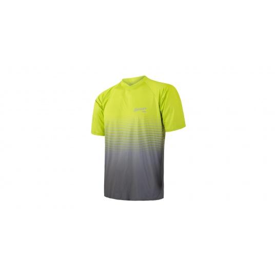 SENSOR CYKLO BRAVE pánský dres volný kr.rukáv reflex žlutá