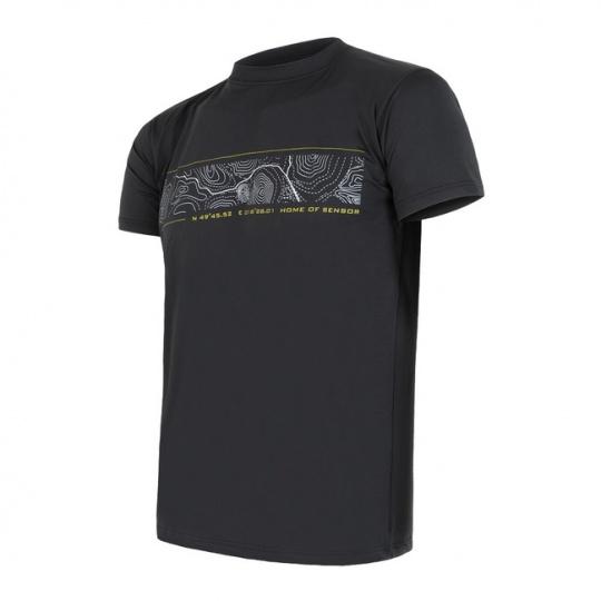 SENSOR COOLMAX FRESH PT GPS pánské triko kr.rukáv černá