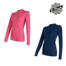 SENSOR ORIGINAL ACTIVE 2-PACK dámský triko dl.rukáv tm.modrá + růžová