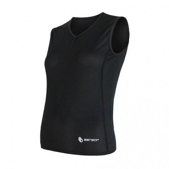 SENSOR COOLMAX AIR dámské triko bez rukávu černá Velikost: