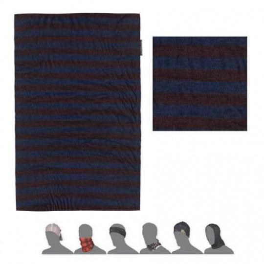 SENSOR TUBE MERINO AIR šátek multifunkční modrá/vínová pruhy
