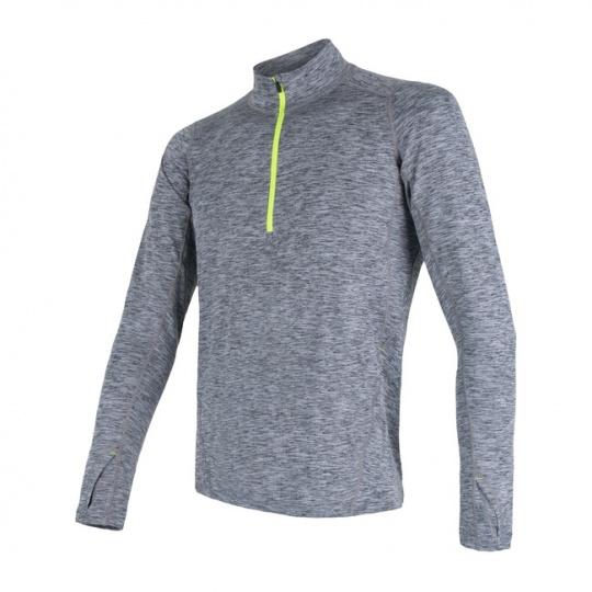 SENSOR MOTION pánské triko dl.rukáv zip šedá