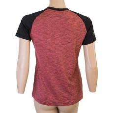 SENSOR CYKLO CHARGER dámský dres volný kr.rukáv růžová/černá Velikost: