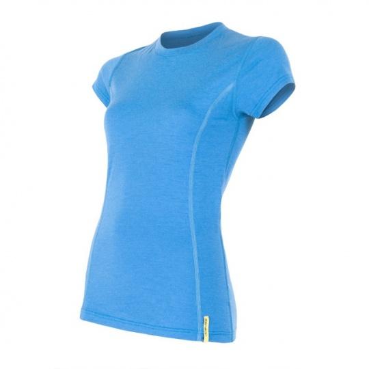 SENSOR MERINO ACTIVE dámské triko kr.rukáv modrá