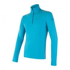 SENSOR MERINO EXTREME pánské triko dl.rukáv zip modrá Velikost:
