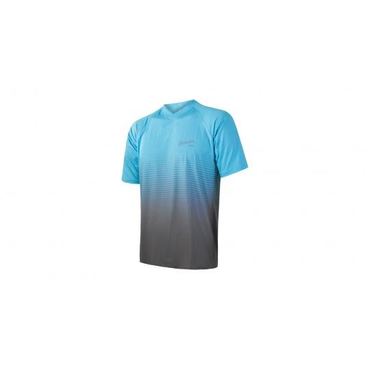 SENSOR CYKLO BRAVE pánský dres volný kr.rukáv modrá