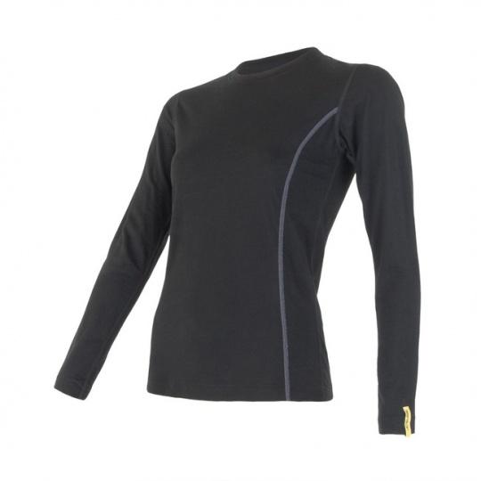 SENSOR MERINO ACTIVE dámské triko dl.rukáv černá