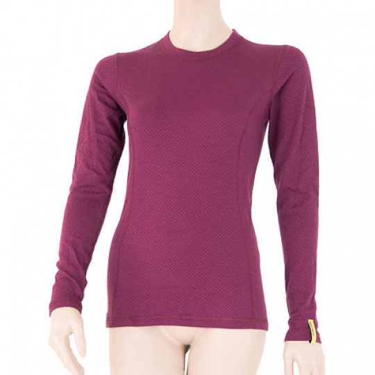 SENSOR MERINO DF dámské triko dl.rukáv lilla Velikost: