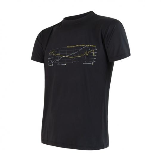 SENSOR COOLMAX FRESH PT TRACK pánské triko kr.rukáv černá