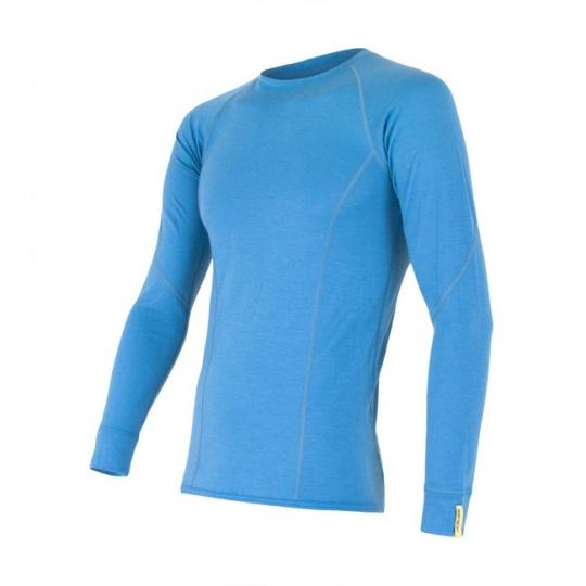 SENSOR MERINO ACTIVE pánské triko dl.rukáv modrá