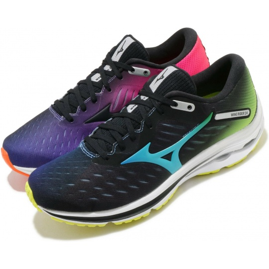 MIZUNO WAVE RIDER 24 / Black/BlueAtoll/SYellow / 3