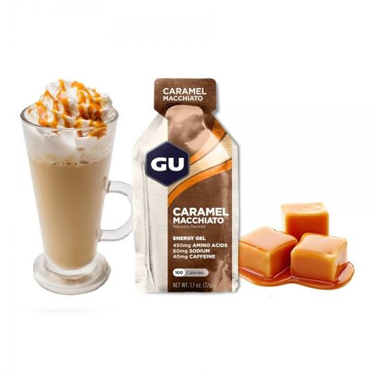 GU Energy Gel 32 g - Caramel Macchiato (balení 10ks)