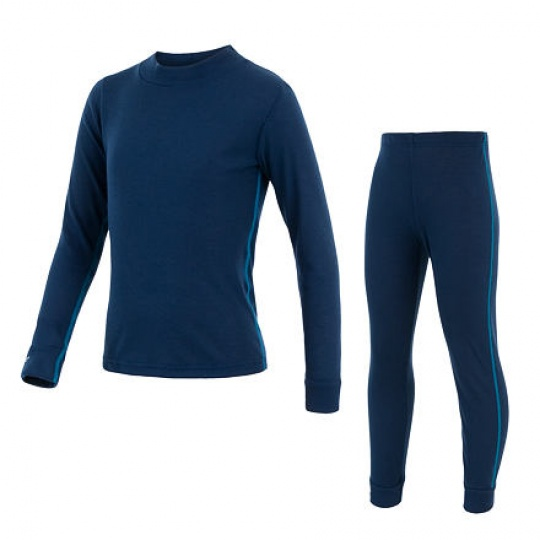 SENSOR ORIGINAL ACTIVE dětský set triko dl.rukáv + spodky tm.modrá Velikost: