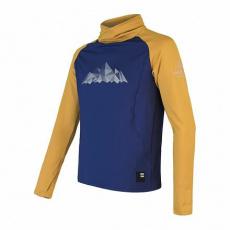 SENSOR COOLMAX THERMO MOUNTAINS pánská mikina deep blue/mustard Velikost: