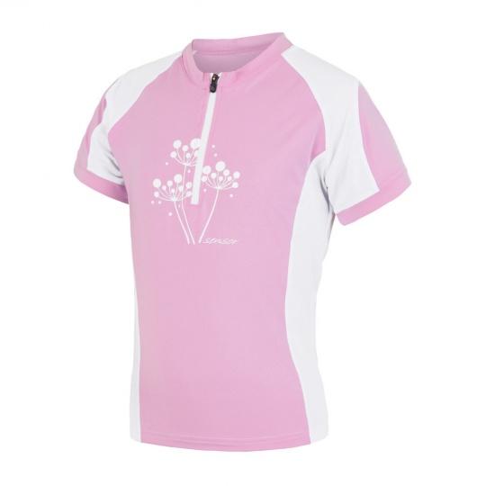 SENSOR CYKLO ENTRY dětský dres kr.ruk. růžová/bílá