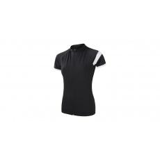 SENSOR CYKLO CLASSIC dámský dres kr.rukáv celozip černá