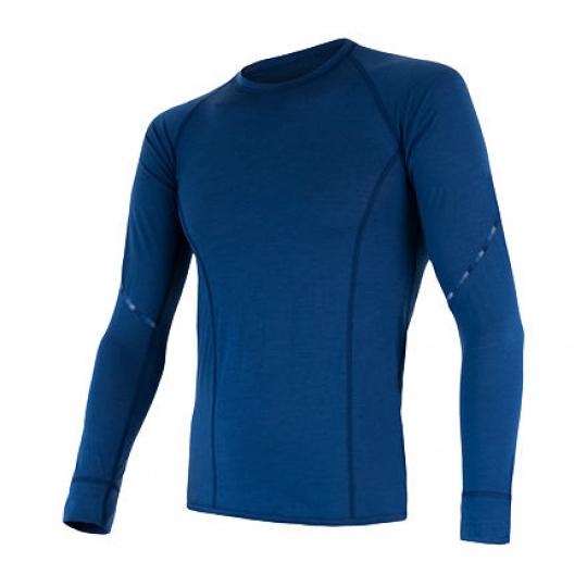 SENSOR MERINO AIR pánské triko dl.rukáv tm.modrá Velikost: