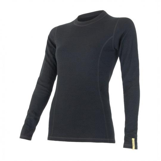 SENSOR MERINO DF dámské triko dl.rukáv černá