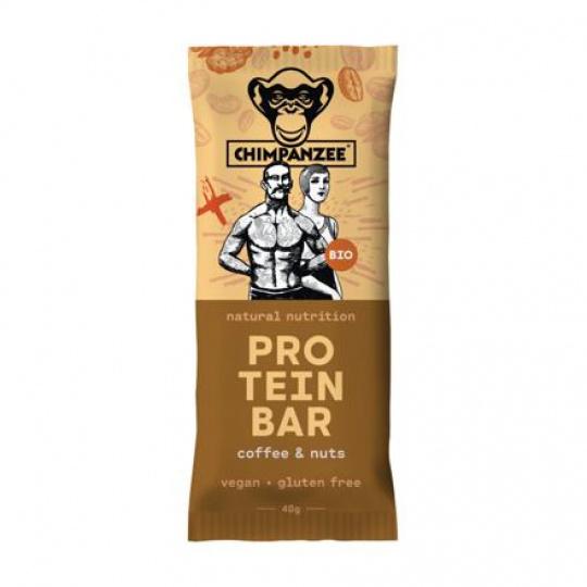 CHIMPANZEE  BIO PROTEIN BAR Coffee - Nuts 45g, CZ-BIO-002