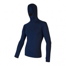 SENSOR MERINO DF pánské triko dl.rukáv s kapucí deep blue Velikost: