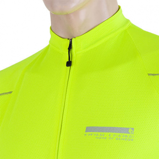 SENSOR CYKLO ENTRY pánský dres kr.ruk. žlutá reflex Velikost:
