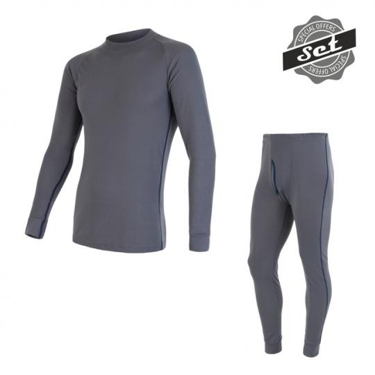 SENSOR ORIGINAL ACTIVE SET pánský triko dl.rukáv + spodky šedá